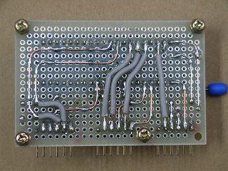 完成したPICkit2用ZIFアダプター基板のパターン面
